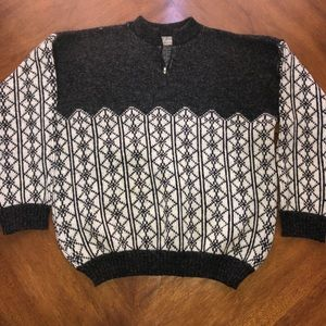 Grey and white WWF 100% new wool sweater